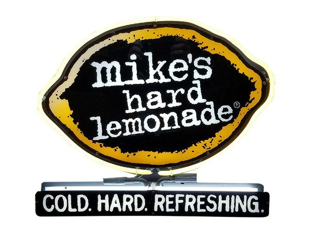 mikes hard lemonade sign