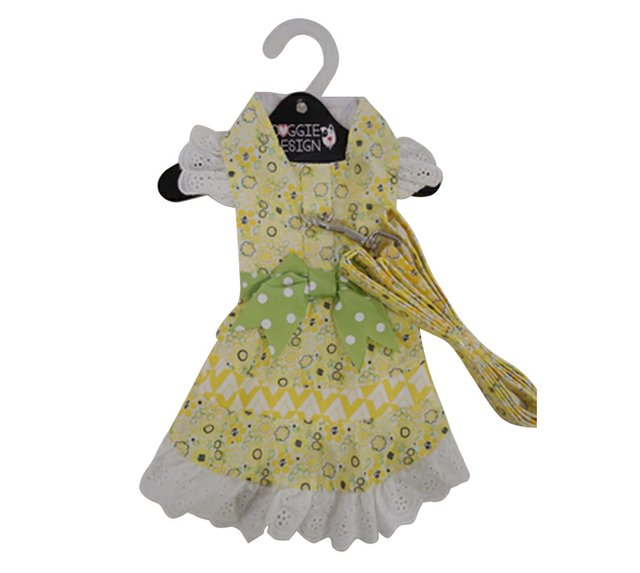 Emily Yellow Floral and Lace Dress