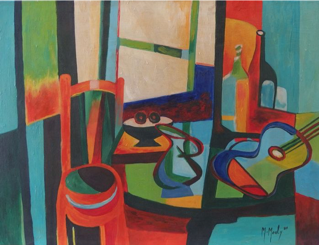 Marcel Mouly, painting, 1959
