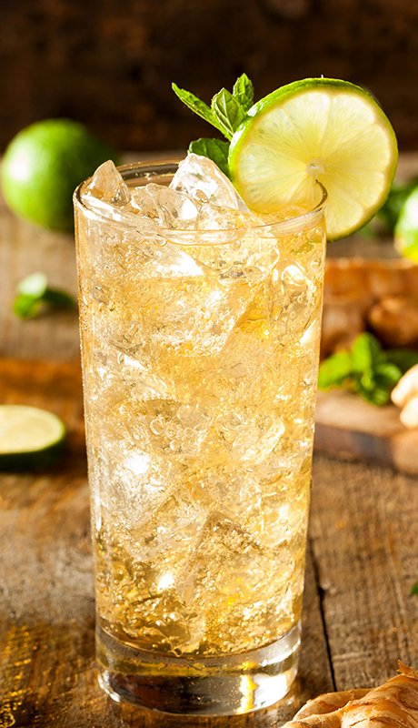 Refreshing Golden Ginger Beer