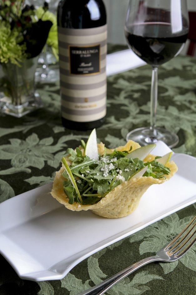 arugula and pear salad